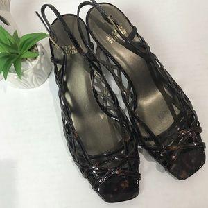 Stuart Weitzman | tortoise strappy heeled sandals